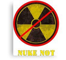 Nuke Not Open Background Big Canvas Print