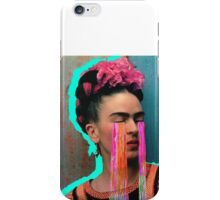 Frida with the rainbow tears iPhone Case/Skin