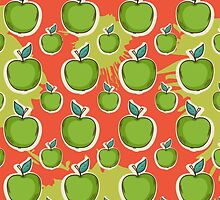 Big fresh green apple by AldanNi