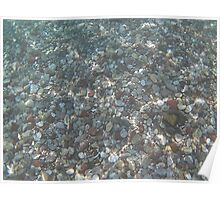 Small Stones In Crystal Clear Sea Poster