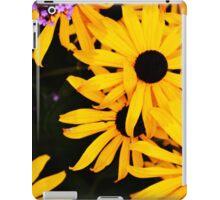Black and Yellow Bee Daisies iPad Case/Skin