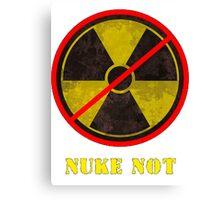 Nuke Not Open Background  Canvas Print