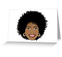 Beautiful Afro woman Greeting Card