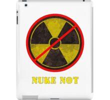 Nuke Not Open Background  iPad Case/Skin