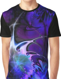 Psychedelic Waves (indigo) Graphic T-Shirt