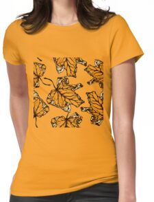 colourful autumn leaves  Womens Fitted T-Shirt