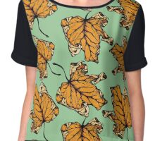 colourful autumn leaves  Chiffon Top