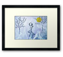 Dancing in the moonlight Framed Print