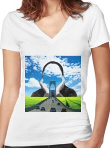 Quite Storm Women's Fitted V-Neck T-Shirt