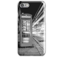 Black and White London Street at Night iPhone Case/Skin