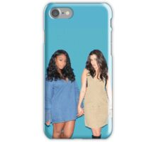 Lauren Jauregui & Normani Kordei (teal background) iPhone Case/Skin