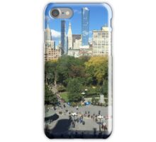 Aerial View, Union Square, New York City iPhone Case/Skin