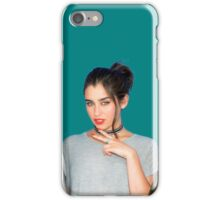 Lauren Jauregui (teal background) iPhone Case/Skin