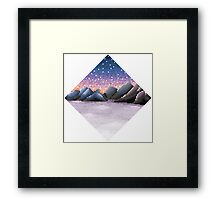 Sunset at the mountains Framed Print