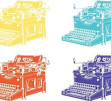 Warhol's Royal Typewriter by Mert Ulus