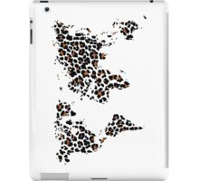 World map in animal print design, leopard pattern iPad Case/Skin