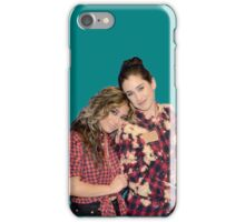 Lauren Jauregui & Ally Brooke (teal background) iPhone Case/Skin
