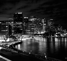 Circular Quay, Sydney At Night by Matthew Walters