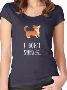 Corgi Glitter (Pembroke Welsh Corgi) Women's Fitted Scoop T-Shirt