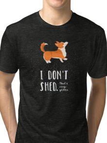 Corgi Glitter (Pembroke Welsh Corgi) Tri-blend T-Shirt