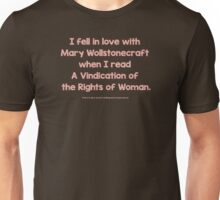 Feminist - I Fell In Love With Mary Wollstonecraft - Brown Unisex T-Shirt