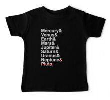 Helvetica Planets List Baby Tee