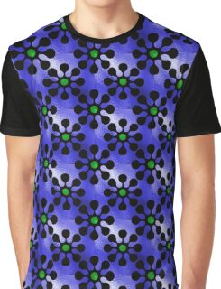 Shine Blossoms Blue Graphic T-Shirt