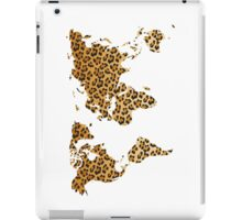 World map in animal print design, leopard pattern iPad Case/Skin