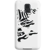World map in animal print design, zebra pattern Samsung Galaxy Case/Skin