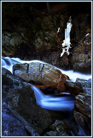 Painted Boulder, Livermore Falls, Plymouth, NH by Wayne King