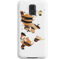 World map in animal print design, tiger pattern Samsung Galaxy Case/Skin
