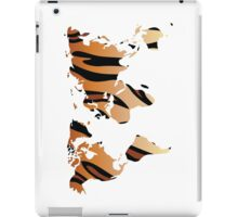 World map in animal print design, tiger pattern iPad Case/Skin