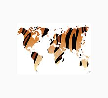 World map in animal print design, tiger pattern Unisex T-Shirt