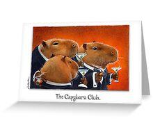 the Capybara Club... Greeting Card
