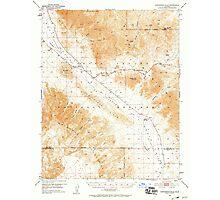 USGS TOPO Map California CA Confidence Hills 297174 1950 62500 geo Photographic Print