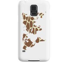 World map in animal print design, giraffe pattern Samsung Galaxy Case/Skin