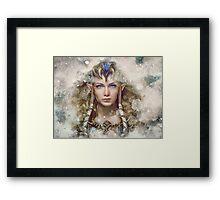 Epic Princess Zelda Painting Portrait Framed Print