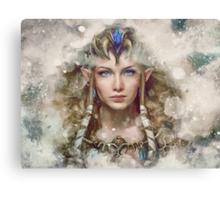 Epic Princess Zelda Painting Portrait Canvas Print