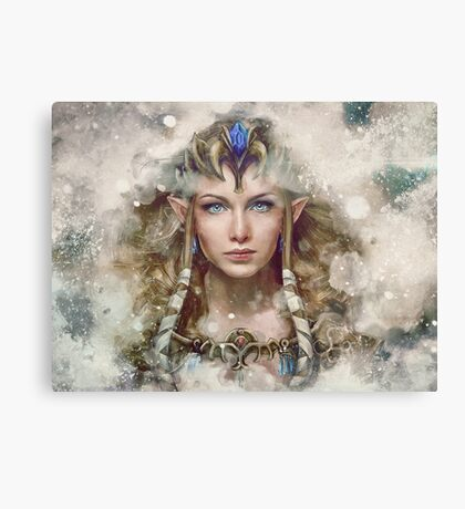 Epic Princess Zelda Painting Portrait Canvas Print