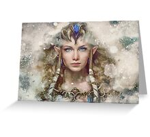 Epic Princess Zelda Painting Portrait Greeting Card