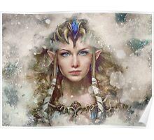 Epic Princess Zelda Painting Portrait Poster