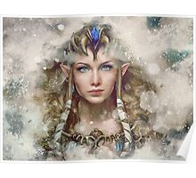 Epic Princess Zelda Painting Portrait Poster