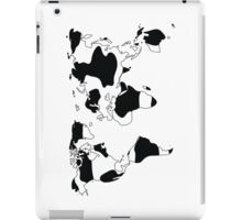 World map in animal print design, black and white iPad Case/Skin