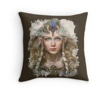 Epic Princess Zelda Painting Portrait Throw Pillow