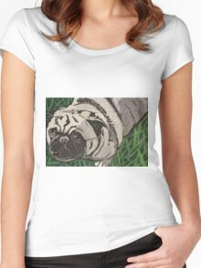 Pug Love Women's Fitted Scoop T-Shirt
