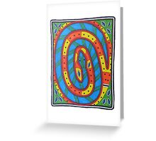 Tribal Snake Dreaming Greeting Card