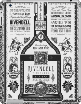 Lord of the Rings Rivendell Wine Vintage Geek Art by barrettbiggers