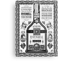 Lord of the Rings Rivendell Wine Vintage Geek Art Metal Print