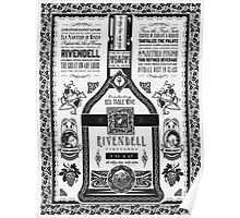 Lord of the Rings Rivendell Wine Vintage Geek Art Poster