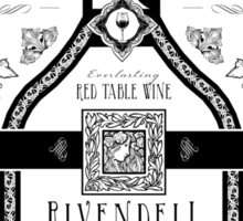 Lord of the Rings Rivendell Wine Vintage Geek Art Sticker